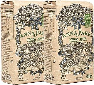 Anna Park Yerba Mate Pack de 2 - Bebida Tradicional de Té en América del Sur (1 kg - 2.2 lbs)