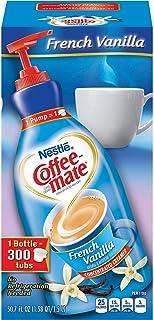 NESTLE COFFEE-MATE Coffee Creamer, French Vanilla, 1.5L liquid pump bottle, Pack of 3