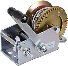 ALAVENTE Hand Winch Crank Cable 3500lbs, Heavy Duty Gear Winch for RV Trailer, Boat or ATV (Steel)