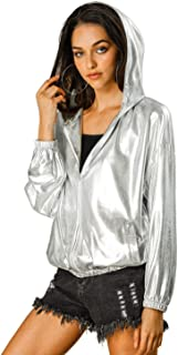 silver holographic jacket
