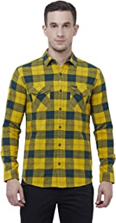 Mufti Slim Fit Checkered Full Sleeve Double Pocket Shirt