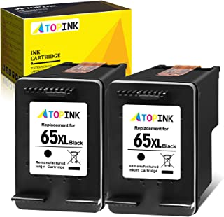 ATOPINK Remanufactured Ink Cartridge Replacement for HP 65 XL 65XL (2 Black) Work with DeskJet 3755 3752 2652 2600 2622 26...