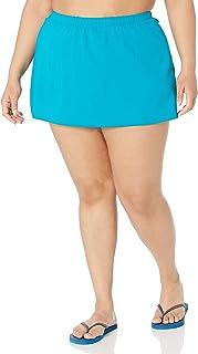 Maxine Of Hollywood Women's Plus Size Solid Tricot Skirted Bikini Bottom - Multi