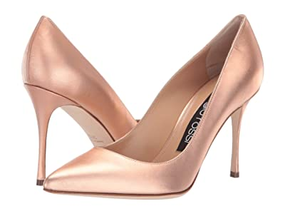 Sergio Rossi A43843-MCAL10 (Oro Rosa Laser Fabric) High Heels