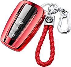RAYSUN Keyless Entry Soft TPU Key Fob Full Cover Keychain for Toyota Camry RAV4 Avalon C-HR Prius Corolla 86//GT86 2018-up Red