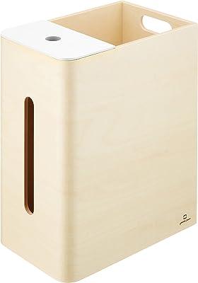 ヤマト工芸 ゴミ箱&ティッシュケース ホワイト [Double D」_ツインケース_日本製_YK15-005