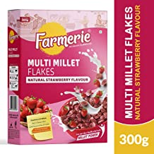 Farmerie Multi Millet Flakes Natural Strawberry Flavour_Breakfast Cereal and Snacks_300 gm