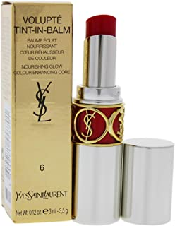 Yves Saint Laurent Volupte Tint In Balm 6 Touch Me Red for Women, 0.12 Ounce