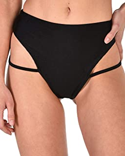 iHeartRaves High Waisted Strappy Booty Shorts - Women's Cheeky Cutout Festival Rave Bottoms
