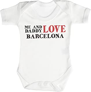 TRS Clothing TRS - Me & Daddy Text Love Barcelona Baby Bodys/Strampler 0-3 Monate weiß