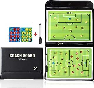 comprar comparacion RoseFlower Carpeta Táctica de Futbol, Carpeta Pizarra Táctica de Entrenamiento Entrenador Magnéticas de Fútbol con Imanes,...