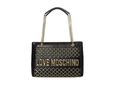 LOVE Moschino Studded Tote Bag (Black) Handbags