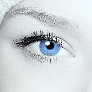 5d524484d6 Eye-Effect 2 lentilles de contact Bleu vert Sans correction Utilisables  pendant 12 mois Avec
