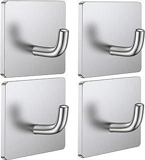 Budding Joy Adhesive Hooks Heavy Duty Stick on Wall Hooks Towel Hooks Door Hooks Waterproof Stainless Steel Adhesive Towel...
