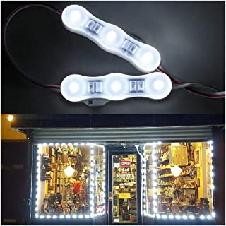 20FT Store Front LED Light Waterproof 40pcs 3led 2835 White LED Module Light, Plug and Play For Indoor/Outdoor Decoration Lighting AC Power Included