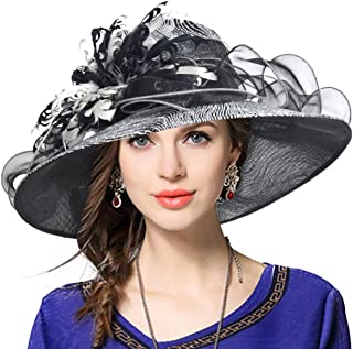 VECRY Ladies's Kentucky Derby Church Wedding Luxury Dress Hat