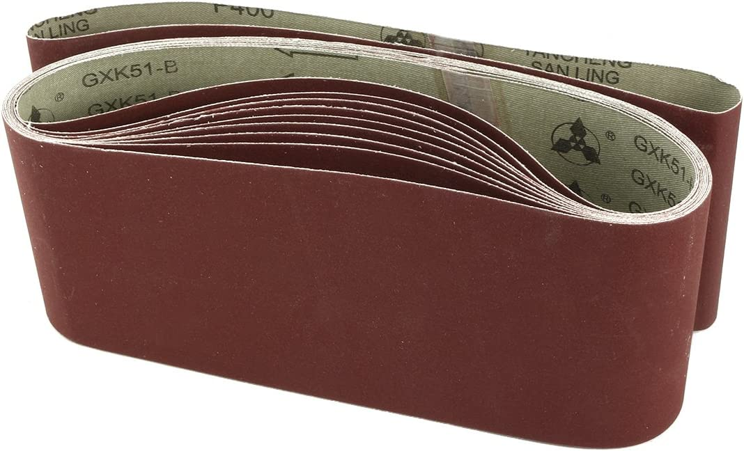 uxcell 4-Inch x New sales Limited time trial price 24-Inch Aluminum Oxide 400 Sanding Grits Sa Belt