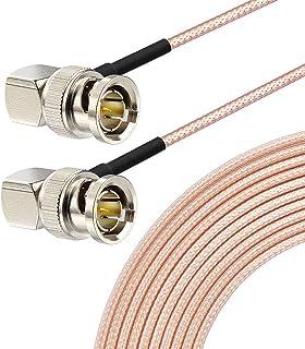 Superbat 3G/HD SDI Cable BNC Cable(100cm 75O) for Cameras and Video Equipment,Supports HD-SDI/3G-SDI/4K/8K,SDI Video Cable (Both Right Angle,1Pcs)