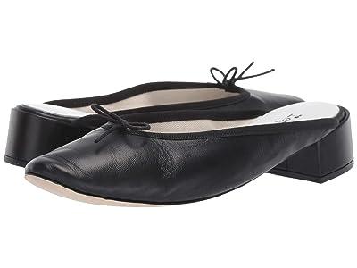 Repetto Lylia Ballerina Mule w/ Heel (Noir Goatskin) Women