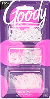 Goody 1942196 Ouchless Multi Pony Band Elastics, Clear ' 250 Units