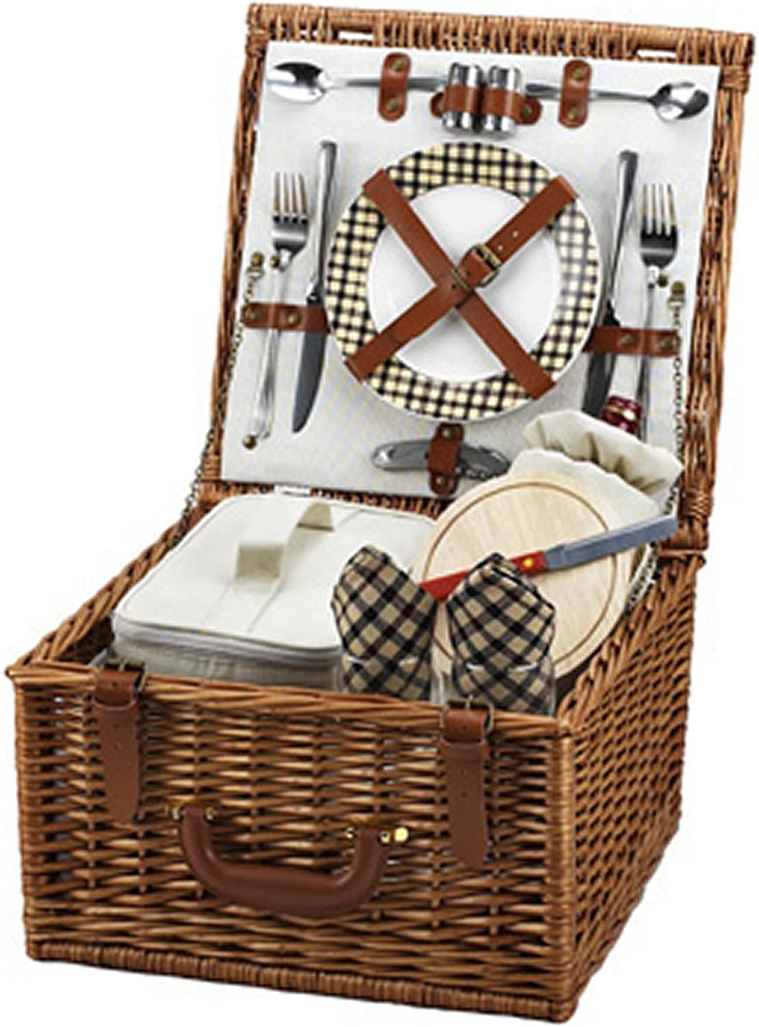 Picnic at Ascot Cheshire Basket for 2, Plaid