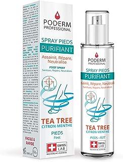 PODERM - TRAITEMENT MYCOSE PIEDS ATHLETE - Spray Purifiant - Elimine 99,9% des champignons – Anti-Odeur & Anti-transpirant...