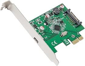 IO Crest Syba 1 Port USB 3.1 Gen 2 10 Gbps Type-C PCI-E 3.0 x1 SATA Power Connector Card Asmedia Chipset