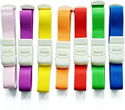 10 Pcs Colorful Adjustable Medical Latex-free Buckle Tourniquet for Outdoor Emergency to Stop Bleeding