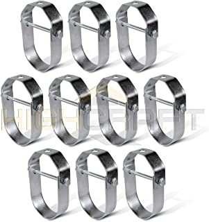 Highcraft HCS-G02-10 Clevis Hanger Standard Galvanized Steel, 2 inches, Chrome, 10 Pack