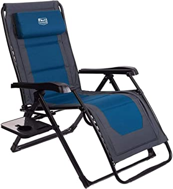 Timber Ridge Zero Gravity Chair Oversized Recliner Folding Patio Lounge Chair 350lbs Capacity Adjustable Lawn Chair with Head