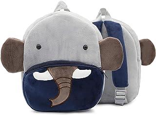 WSLCN Toddler Kids Mini Backpack Cute Animal Schoolbags Plush Preschool Bag (Elephant)