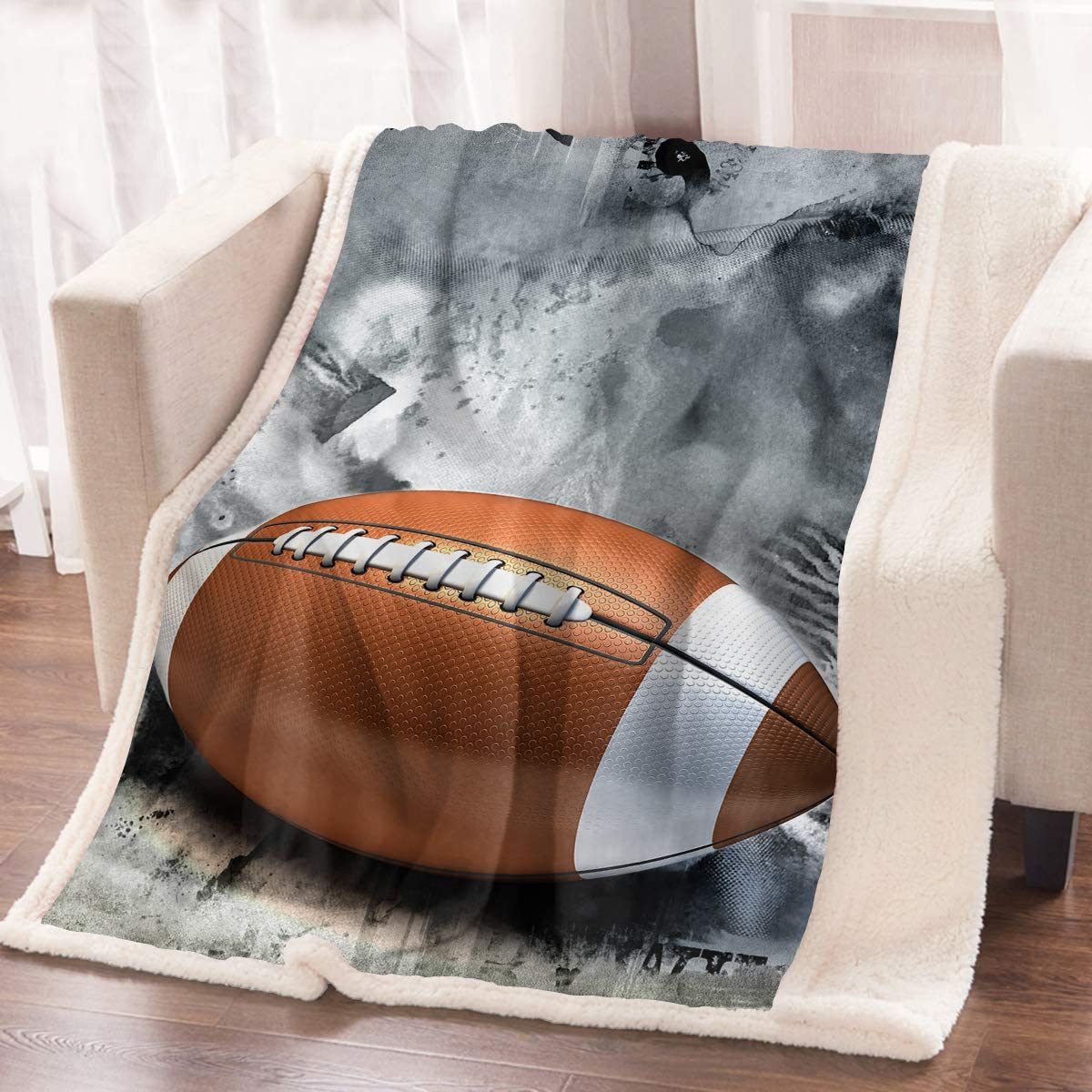 Max 53% OFF ARIGHTEX Sports Throw Blanket Teens famous Football Funky American Boys