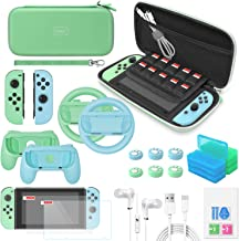 Switch Accessories Bundle - YUANHOT Upgraded Essential Pack for Nintendo Switch with Carrying Storage Case & Screen Protec...