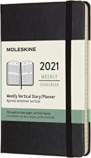 """Moleskine 12 Month 2021 Weekly Planner, Hard Cover, Pocket (3.5"""" x 5.5"""") Black"" (DHB12WV2Y20)"