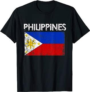 Vintage Philippines Filipino Flag Pride Gift T-Shirt
