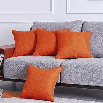 Amazon Co Uk Orange Cushion Covers Cushions Accessories Home