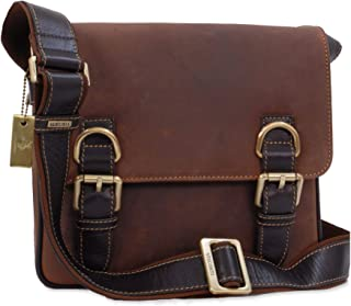 Visconti Messenger Organiser Bag - Genuine Leather -iPad/Kindle/Flap Over/Shoulder/Cross Body/Work Bag/Leisure - 16012 - Rumba - Oil Tan