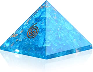 Crystal Agate - Blue Onyx Orgone Pyramid for EMF protection-Energy generator Crystal