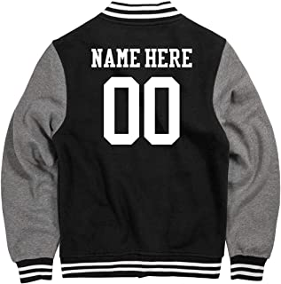 Personalized Varsity Jacket: Unisex Fleece Letterman Varsity Jacket
