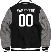 Customized Girl Personalized Varsity Jacket: Unisex Fleece Letterman Varsity Jacket