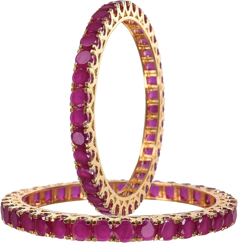 Ratnavali Jewels online shopping CZ Zirconia Gold Tone Green Bo Red Diamond New Orleans Mall Blue