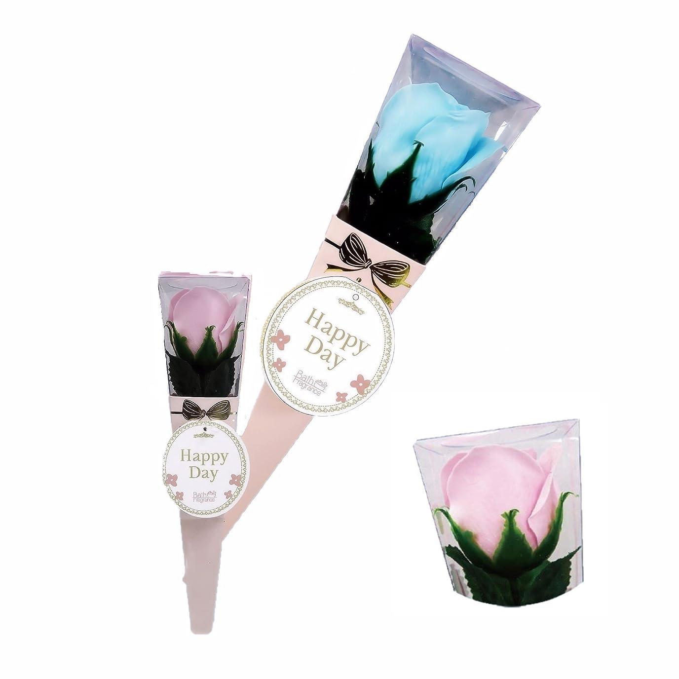 捕虜段階戸棚バスフレグランス ミニローズブーケ ピンク バスフラワー ギフト お花の形の入浴剤