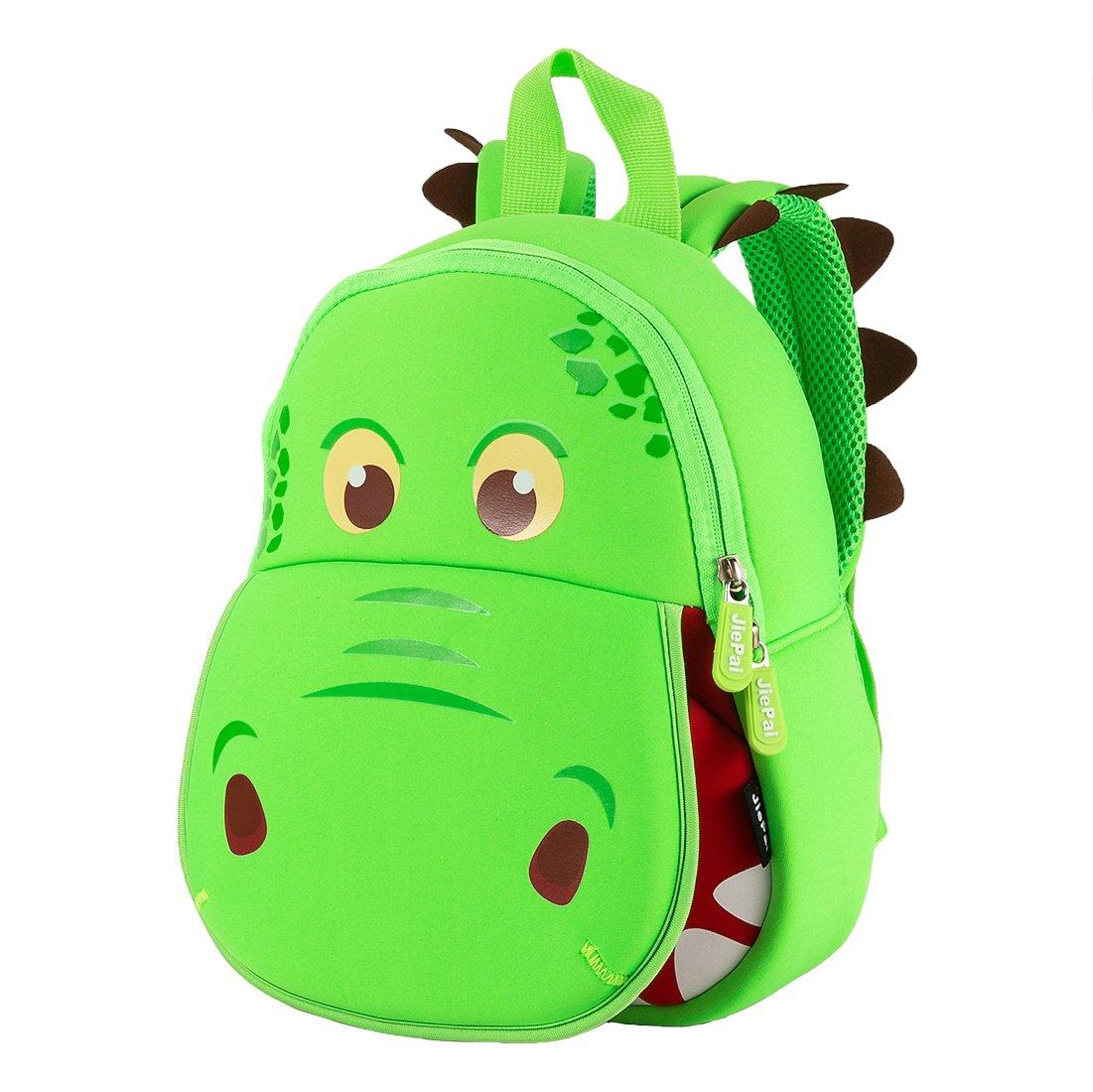 JiePai Backpack Dinosaur Waterproof Preschool
