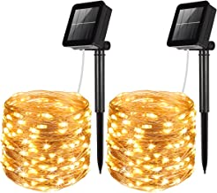 AMIR Upgraded Solar String Lights, Mini 100 LED Copper Wire Lights, Waterproof Starry..