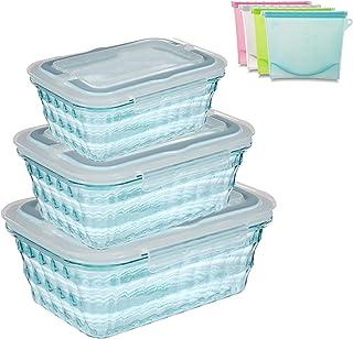 Conteneurs De Stockage Des Aliments 3Pack, Ensemble De Contenants De Stockage Des Aliments En Plastique, Contenants De Pré...