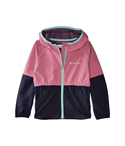 Columbia Kids Hidden Canyontm Softshell Jacket (Little Kids/Big Kids) (Orchid/Nocturnal Heather) Girl