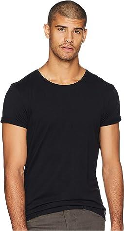 Classic Crew Neck T-Shirt w/ Small Logo Print