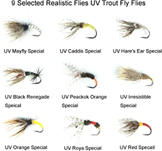 Riverruns Speical Sale Tenkara Flies Kebari 9 Selected Realistic Flies UV Trout Fly Flies With Fly Box Super Sturdy Proudly from Europe