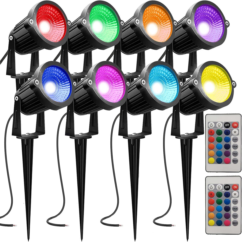 AHSELLUS Low Voltage Landscape Lights Lan Changing Under blast sales Ranking TOP20 Color RGB LED
