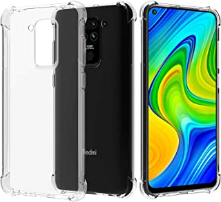 Cover for Xiaomi Redmi Note 9 Case,[Strengthen Version with Four Corners] [Camera Care Protection] Shockproof Soft TPU Rub...